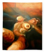 Reclining Nude Fleece Blanket
