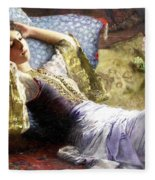 Reclining Odalisque Fleece Blanket