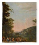 Reconciliation Of Jacob And Esau Fleece Blanket