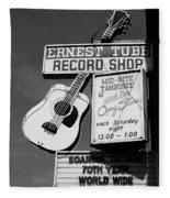 Record Shop- By Linda Woods Fleece Blanket