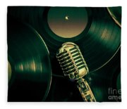Recording Studio Art Fleece Blanket