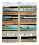 Records Storage- Nashville Photography By Linda Woods Fleece Blanket