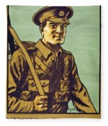 Recruitment Poster Follow Me Your Country Needs You Fleece Blanket
