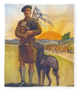 Recruitment Poster The Call To Arms Irishmen Dont You Hear It Fleece Blanket