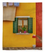 Rectangle Iterations Broom And Laundry Burano_dsc5134_03042017 Fleece Blanket