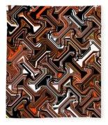 Recurring Pattern Abstract Fleece Blanket