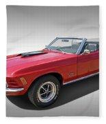 Red 1970 Mach 1 Mustang 351 Cleveland Fleece Blanket