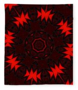 Red Abstract 031211 Fleece Blanket