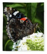 Red Admiral - Underside Fleece Blanket