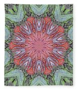 Red Amaryllis Trio Kaleidoscope Fleece Blanket