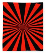 Red And Black Abstract #3 Fleece Blanket