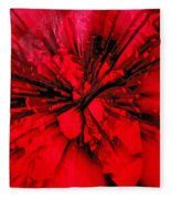 Red And Black Explosion Fleece Blanket