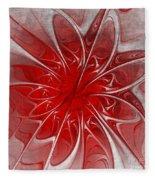 Red And Black  -f D- Fleece Blanket