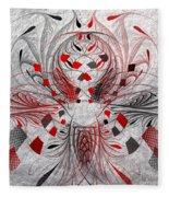 Red And Black -f E- Fleece Blanket