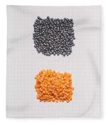 Red And Black Lentils Fleece Blanket