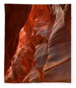 Red And Brown Swirling Sandstone Fleece Blanket