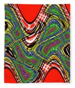 Red And Green Thing Fleece Blanket