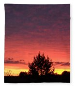 Red And Orange June Dawn Sky Fleece Blanket