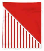Red And White Triangles Fleece Blanket