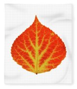 Red And Yellow Aspen Leaf 10 Fleece Blanket