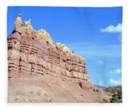 Red And Yellow Fortress Number 2 Fleece Blanket