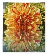 Red And Yellow Reflection Fleece Blanket