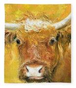 Red Angus Cow Fleece Blanket