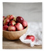 Red Apples Still Life Fleece Blanket