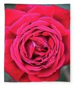 Red As A Rose  Fleece Blanket