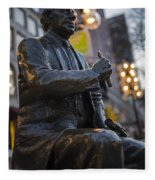 Red Auerbach Chilling At Fanueil Hall Side Fleece Blanket