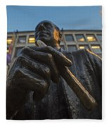 Red Auerbach Chilling At Fanueil Hall Fleece Blanket