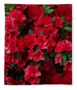 Red Azalea Blooms Fleece Blanket