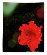 Red Azalea Fleece Blanket