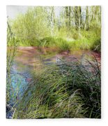 Red Azolla Fleece Blanket