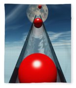 Red Balls From Space Fleece Blanket