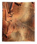 Red Bark Nature Abstract Fleece Blanket