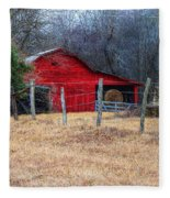 Red Barn A Long The Way Fleece Blanket