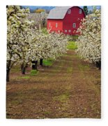 Red Barn Avenue Fleece Blanket