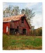 Red Barn Putnum County Fleece Blanket