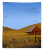 Red Barn Summer Fleece Blanket