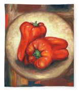 Red Bell Peppers Fleece Blanket