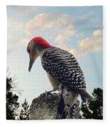 Red-bellied Woodpecker - Tree Top Fleece Blanket