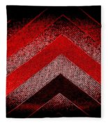 Red Black Chevron Fleece Blanket