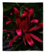 Red Bloom Fleece Blanket