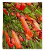 Red Blossoms Of A Firecracker Plant Fleece Blanket