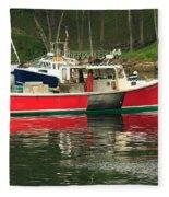 Red Boat Fleece Blanket