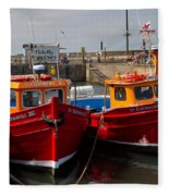 Red Boats Fleece Blanket