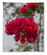 red bougainvillea in Laguna Guerrero Fleece Blanket