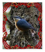 Red Breasted Nuthatch 2 Fleece Blanket
