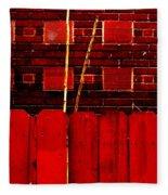 Red Brick And Sticks Fleece Blanket